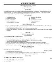 Assistant Food And Beverage Manager Resume Simple Assistant Manager Resume Example Livecareer