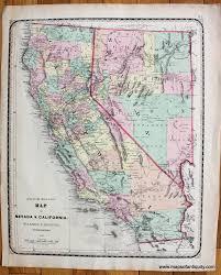 Joshua Tree California Map Antique Maps And Charts U2013 Original Vintage Rare Historical