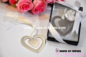 bookmark favors silver heart shaped bookmark wedding favors as low as rm1 60