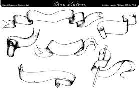 ribbon with words drawing ribbon set illustrations creative market