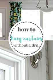 How to Hang Your Curtains Without A Drill} Moody Mooch