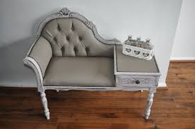 Shabby Chic Chaise Lounge by Shabby Chic Chaise Lounge Telephone Table Annie Sloan Chalk Paint