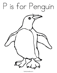 Penguin Coloring Pages P Is For Penguin Coloring Page Twisty Noodle by Penguin Coloring Pages