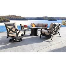Milano Patio Furniture Cabana Coast Milano Deep Seating Loveseat With Seat And Back