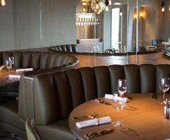 Circular Banquette Banquette Seating In Tan Leather For Boutique Hotel Benchmark