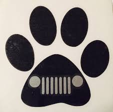 jeep decal heart and dog paw decal jeep grill dog vinyl decal sticker dog car