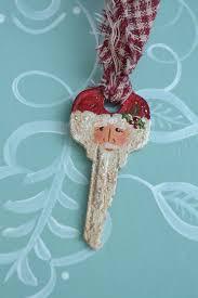 painted santa key ornament handmade santa key