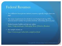 Sample Resume Government Jobs by Resume Online Workshop