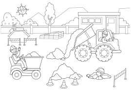 construction coloring pages creativemove me