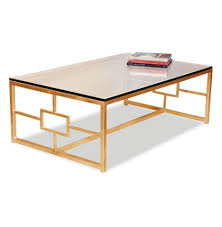 coffee tables simple gold coffee table orrico rose hammered