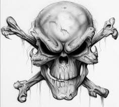 evil skull flash tattooic