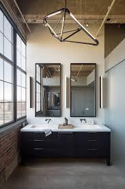 wall mirror powder room contemporary with wood bathroom