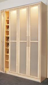 contemporary wardrobe with frosted closet doors