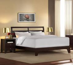 White Wood King Bed Frame Modern Frames Design Ideas With Brown Color Wooden And