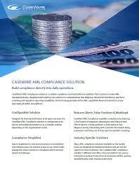 anti money laundering caseware aml compliance