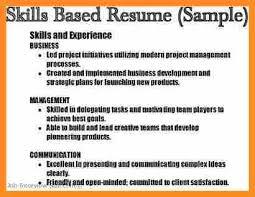 Skills Based Resume Examples by 10 Job Skills Examples For Resume Application Leter