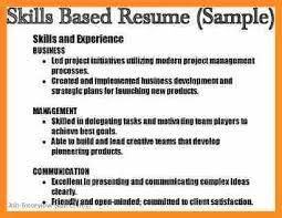 Skill Based Resume Sample by 10 Job Skills Examples For Resume Application Leter