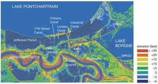 New Orleans On Map Topographic Maps Displaying Varying Topographic Relief