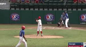 video little leaguer hits home run into trees behind field si com
