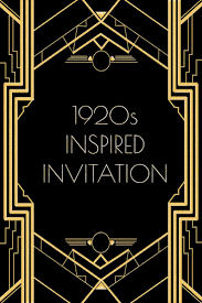 Dinner Party Invitation Card Use This 1920s Inspired Invitation Template For A Gatsby Or