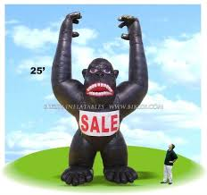 gorilla balloon black gorilla king kong ape balloon for sale
