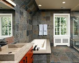 slate tile bathroom ideas multicolor tile bathroom design ideas almond bathroom tile light