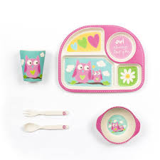 Owl Theme by Owl Theme Bamboo Dinner Set For Kids U2022 Owl Delights