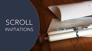 Diy Scroll Invitations Scroll Invitations Our Scroll Wedding Invitation Youtube