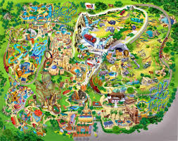 Florida Orlando Map by Amusement Park Art Amusement Park Map By Neotomi Art Lessons