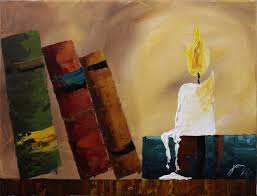 painting book books by candlelight step by step acrylic painting on canvas
