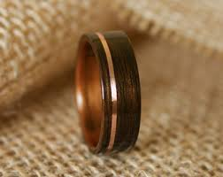 mens wood wedding bands men s wooden wedding band with 14k gold inlay in