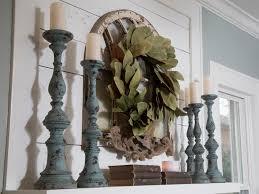 magnolia fixer upper fixer upper mantel ideas magnolia wreath nest of posies