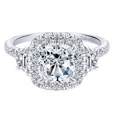 white gold halo engagement rings 14k white gold halo engagement ring