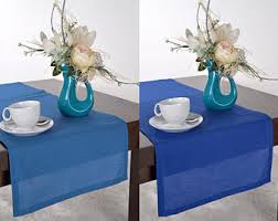 Navy Blue Table Runner Blue Table Runner Etsy