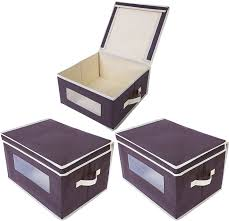 Office Storage Containers - image of cubicle storage bins for office bhg striped gray storage