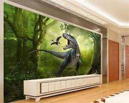 beibehang 3d wallpaper jurassic park dinosaurs out tv background