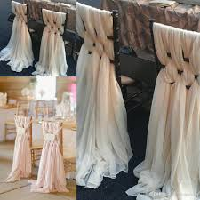 diy chair sashes custom made pink chiffon diy wedding chair covers and sashes knit