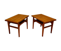 Teak Side Table Danish Teak Side Tables By Niels Bach U2013 Danish Modern L A
