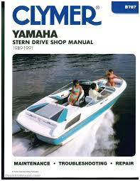 yamaha stern drive 1989 1990 1991 clymer boat engine repair manual