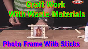 photo frame craft work with waste materials learn craft for