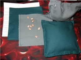 condo blues sew tabletop mini bean bags