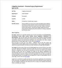 Personal Injury Paralegal Resume Legal Assistant Job Description Legal Secretary Resume Best Legal