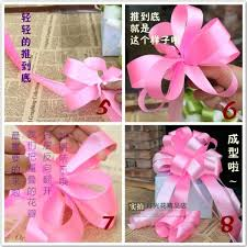 plastic ribbon 1 5m 20pcs wedding car ribbon pull bows birthday lazos para