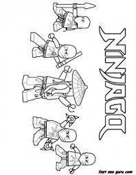 printable ninjago ninja team coloring boy printable