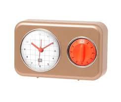 buy online clock with kitchen timer nostalgiaat best price 528138