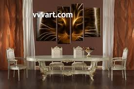 Large Artwork For Wall by 4 Piece Brown Cat Canvas Photography
