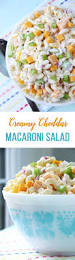 Creamy Pasta Salad Recipes by Creamy Cheddar Macaroni Salad A Pretty Life In The Suburbs