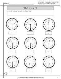 telling time worksheets 1st grade worksheets