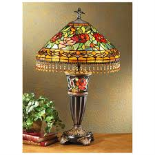 red rose stained glass table lamp shades home decor u0026 interior