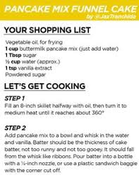 diy state fair funnel cake recipe cake ingredients bisquick